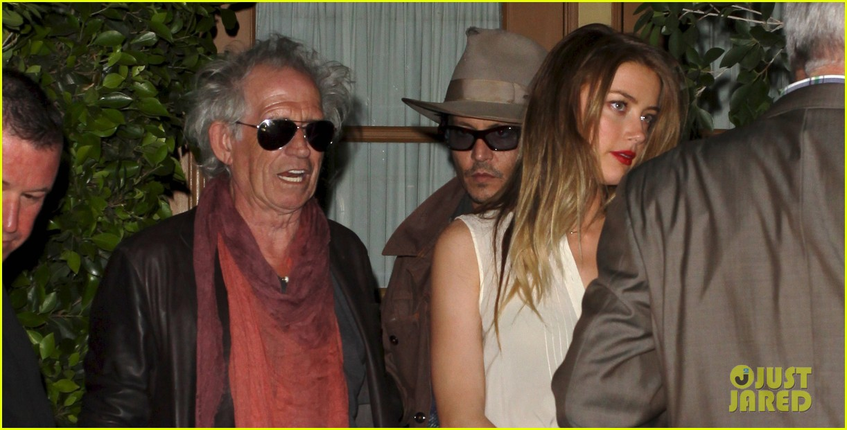 johnny depp amber heard dinner with keith richards 012877459