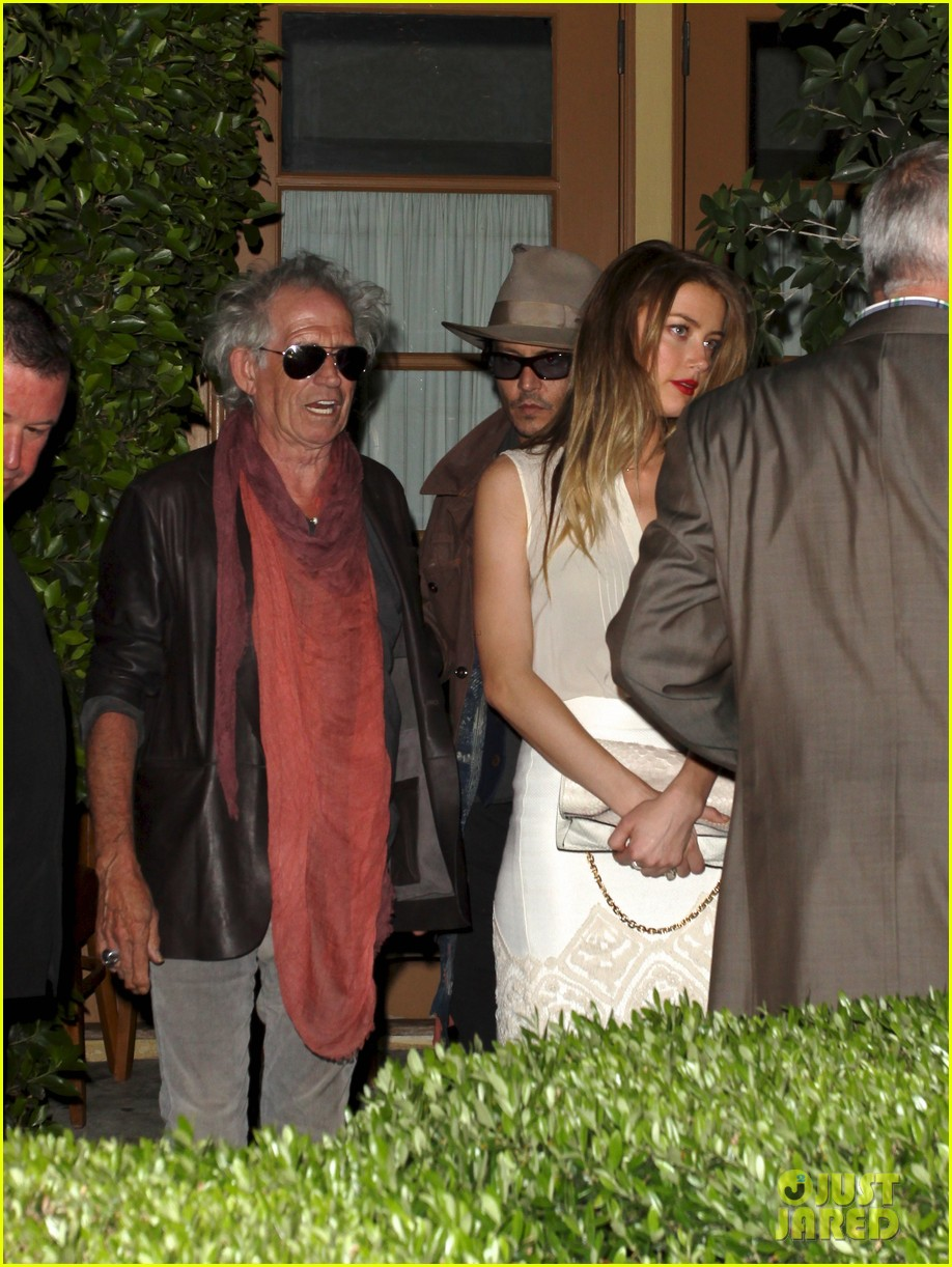 johnny depp amber heard dinner with keith richards 032877461