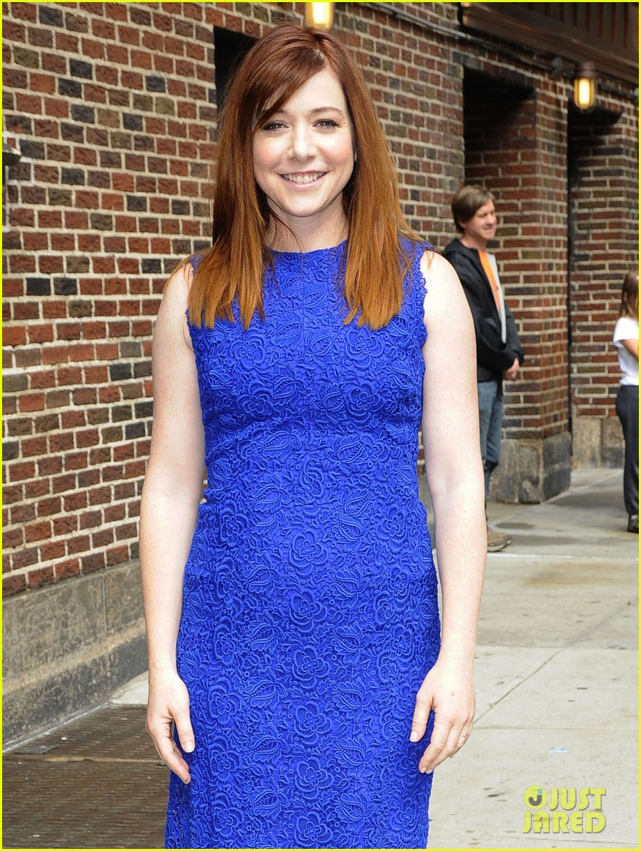 zooey deschanel alyson hannigan letterman ladies 062867043