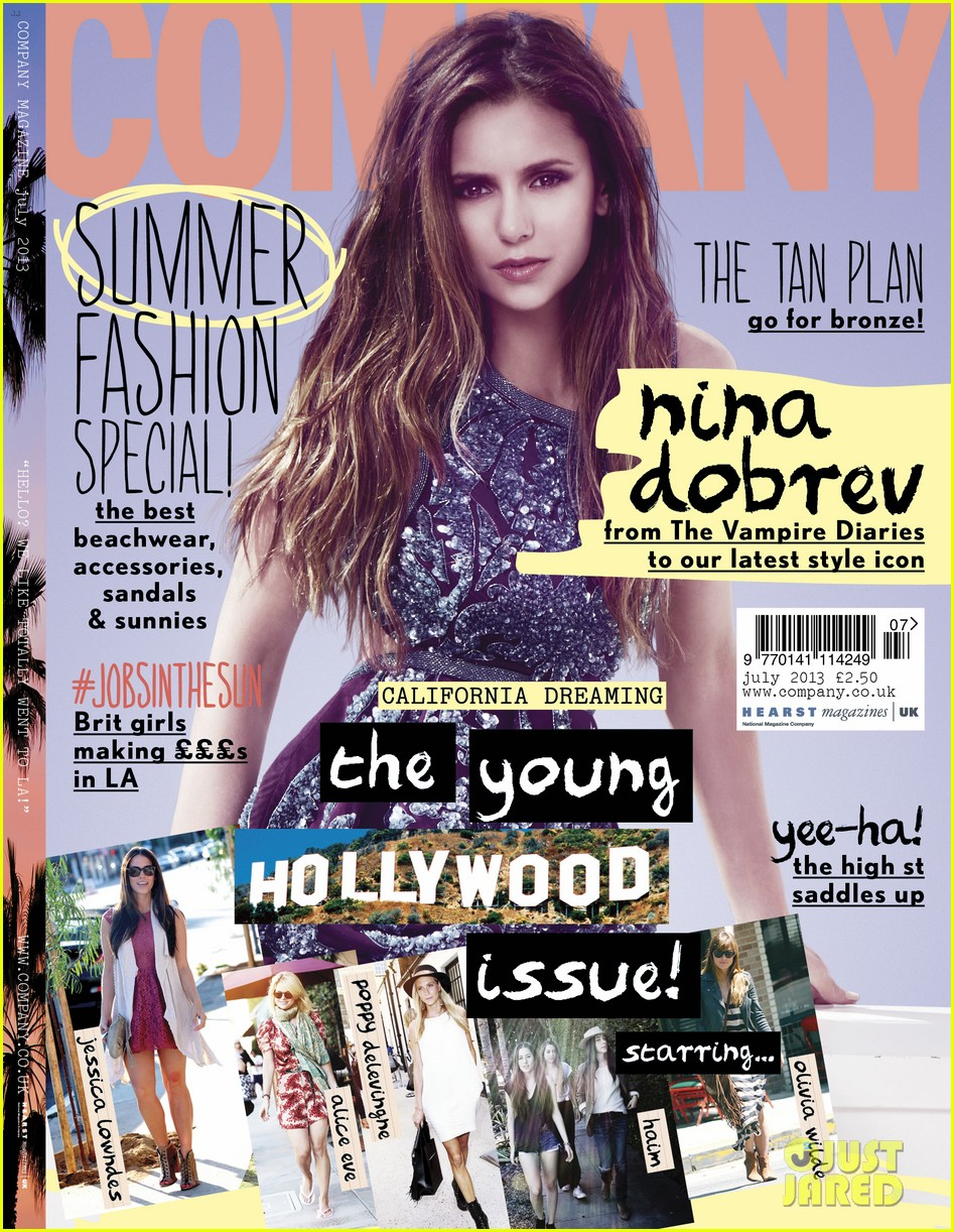 nina dobrev covers company july 2013 01
