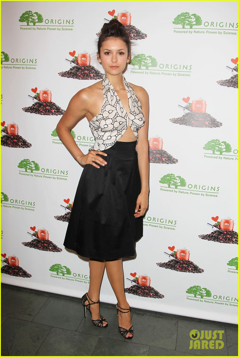 nina dobrev new origins ginzing moisturizer launch 03