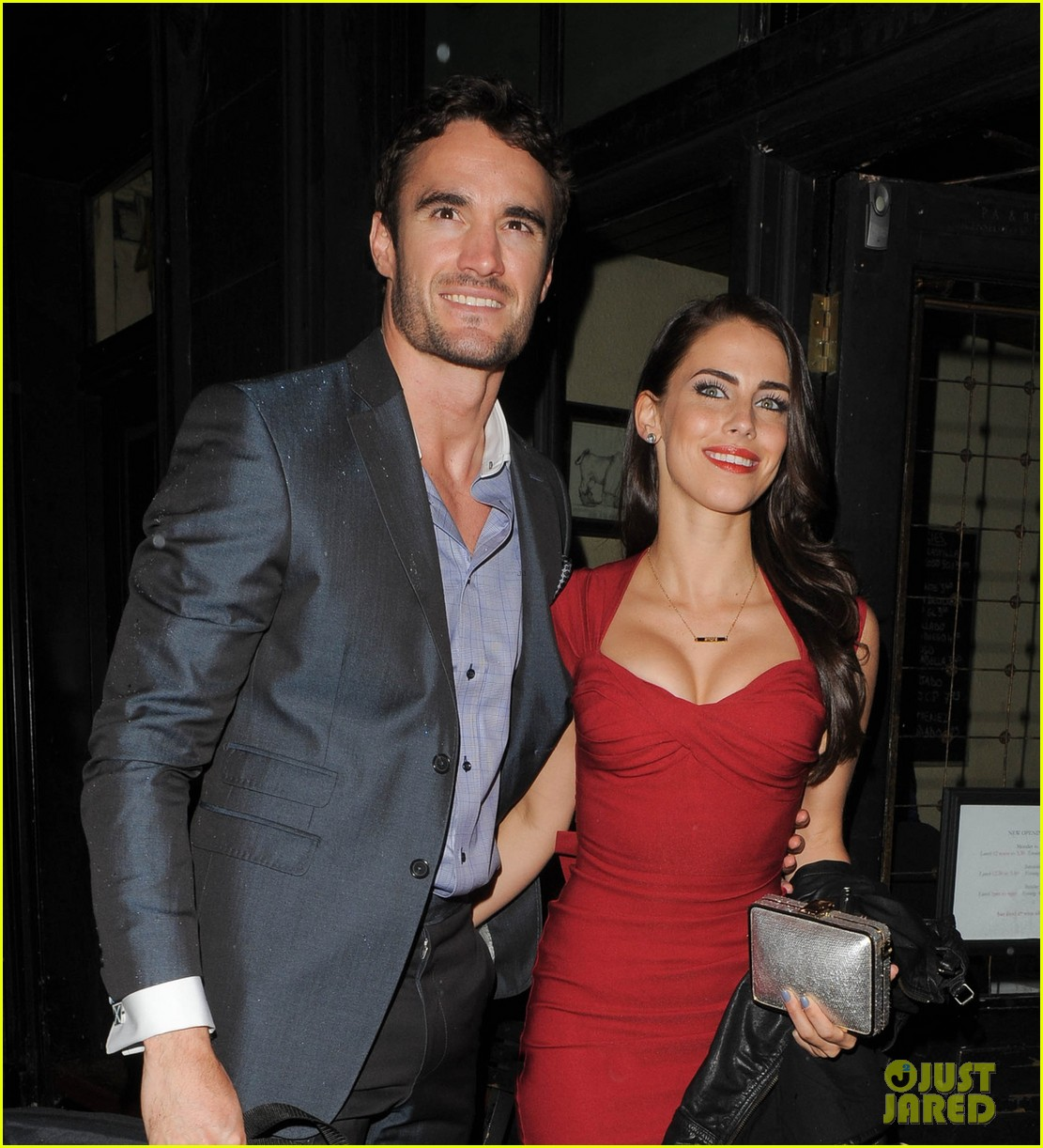 thom evans jessica lowndes aston martin launch party 06