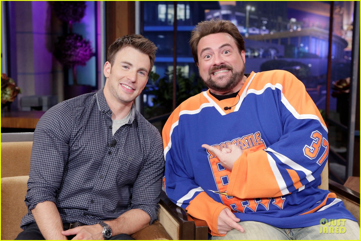 chris evans jay leno appearance with kevin smith 022863171