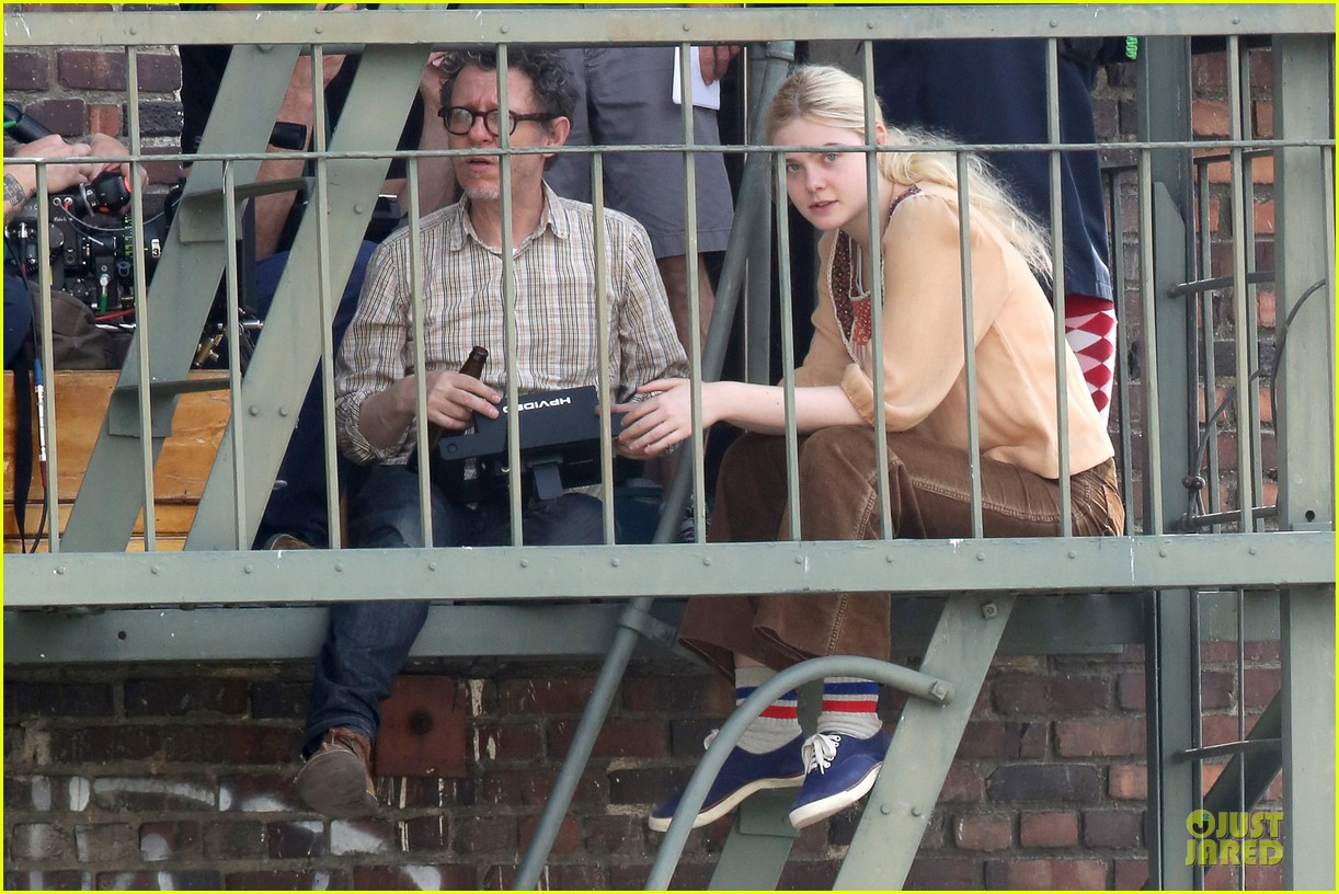 elle fanning low down set with peter dinklage 122868312