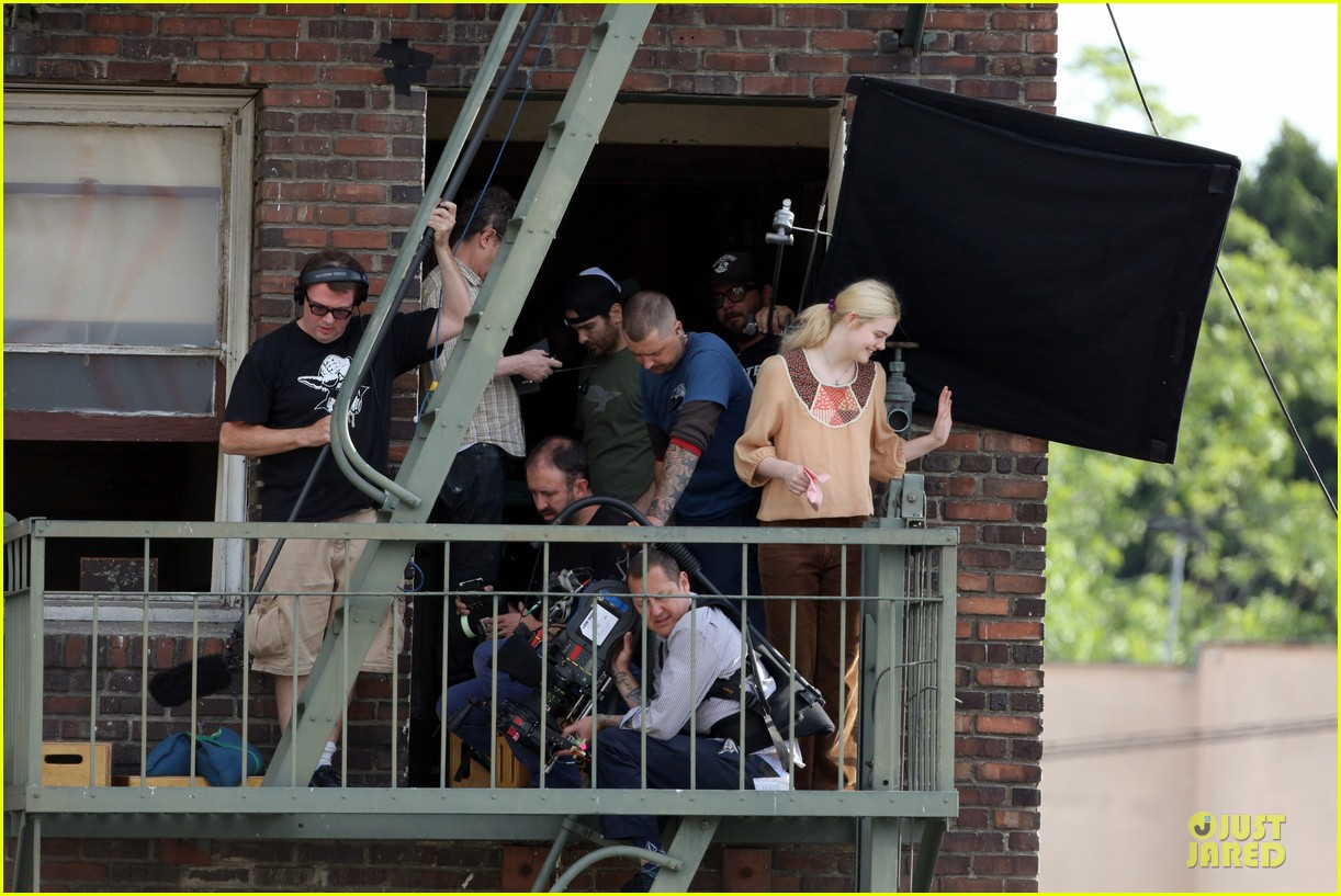 elle fanning low down set with peter dinklage 162868316