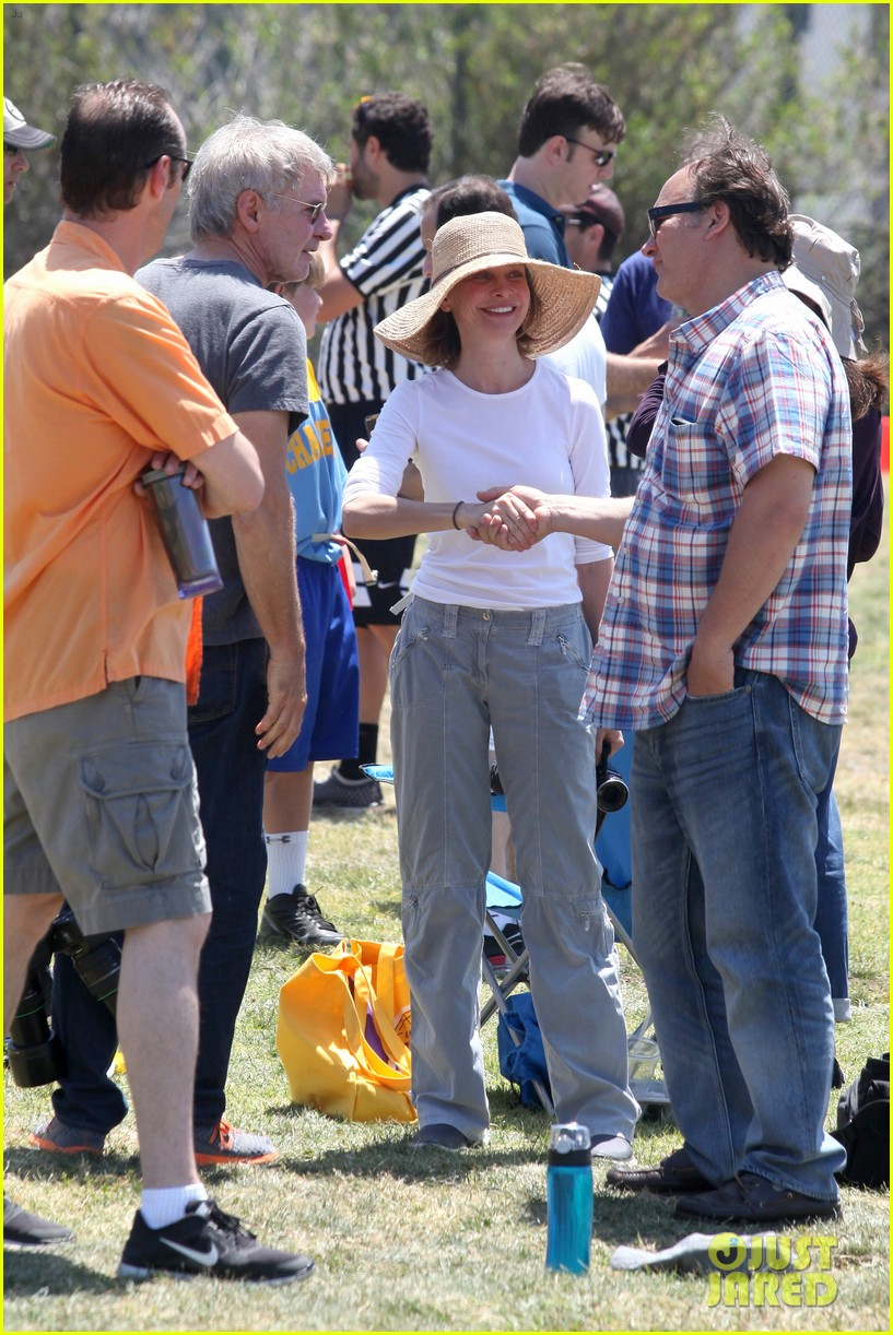 harrison ford calista flockhart liam soccer game 122868791