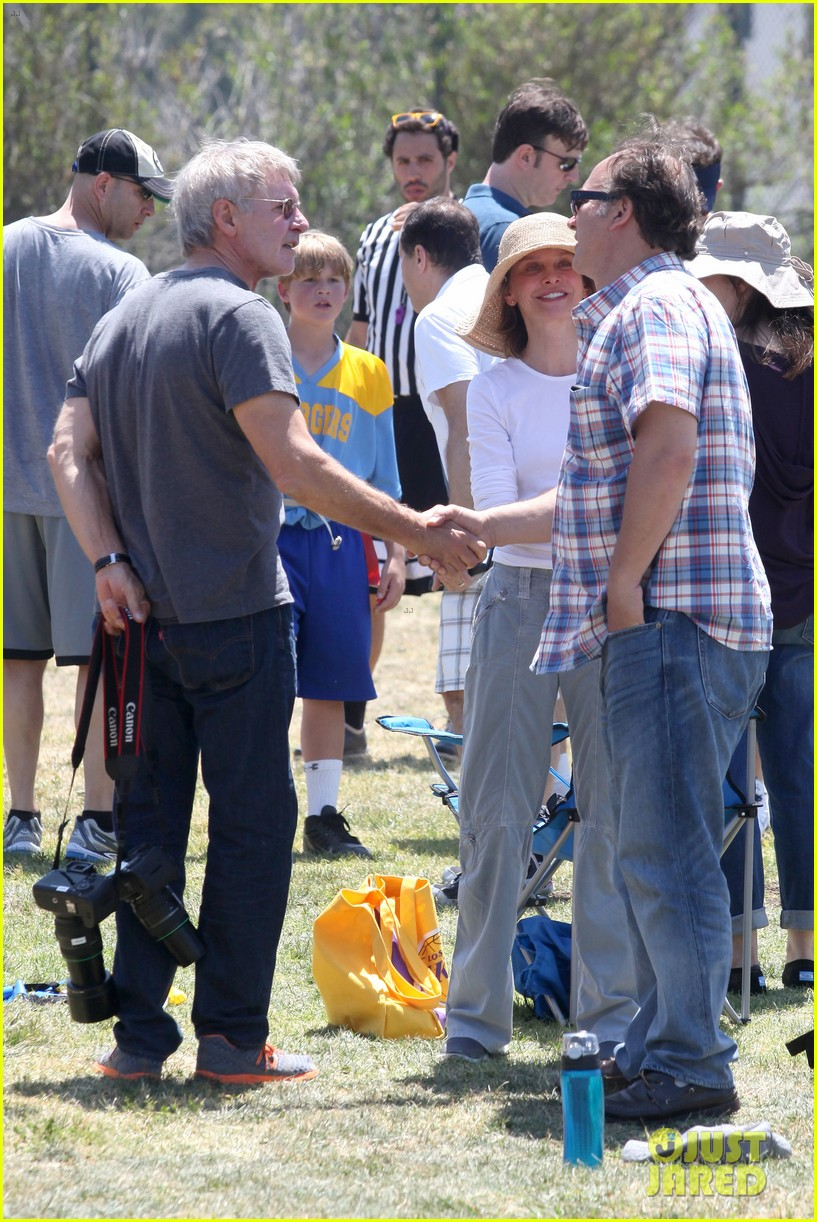 harrison ford calista flockhart liam soccer game 152868794