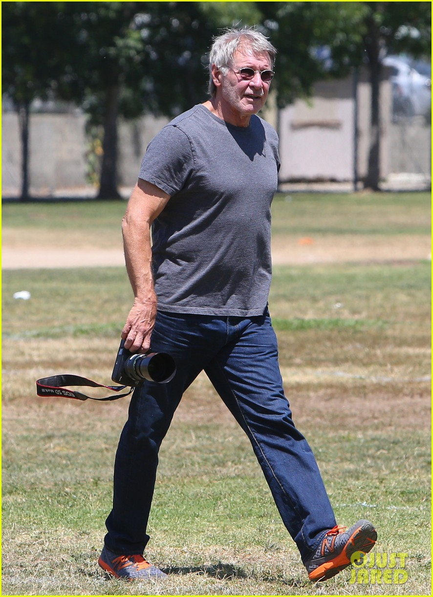 harrison ford calista flockhart liam soccer game 242868803