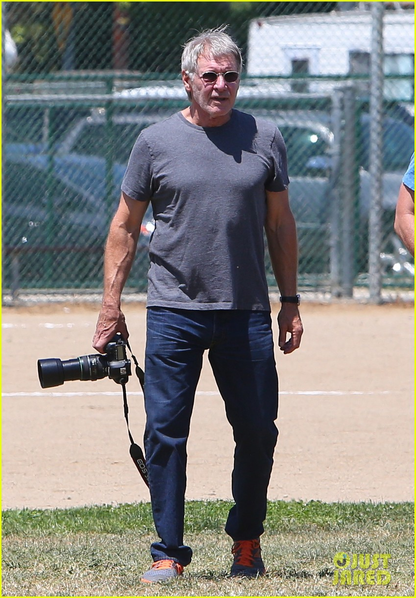harrison ford calista flockhart liam soccer game 272868806