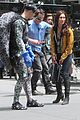 megan fox alan ritchson hold hands on ninja turtles set 11