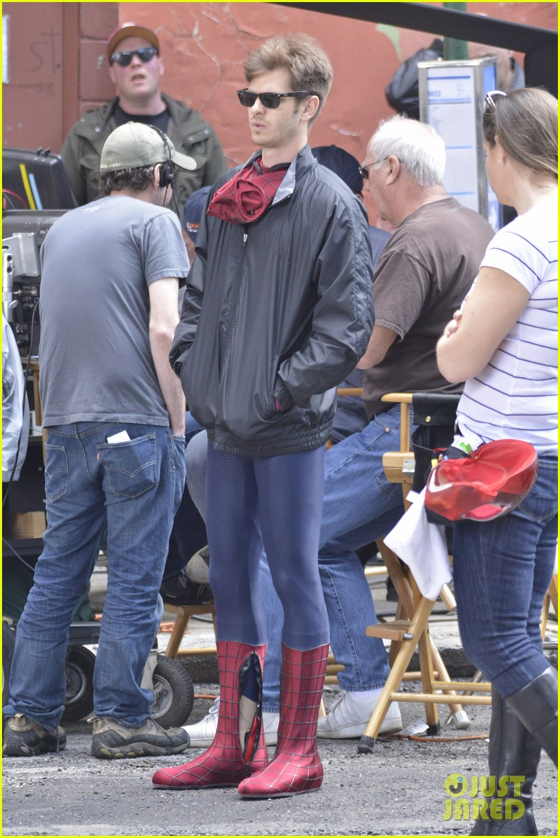 andrew garfield paul giamatti spider man 2 stunt scenes 07