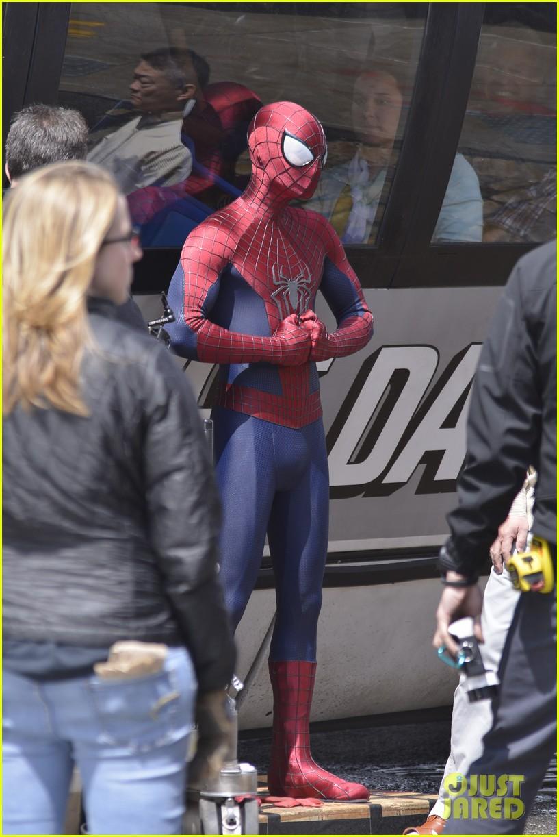 andrew garfield paul giamatti spider man 2 stunt scenes 08