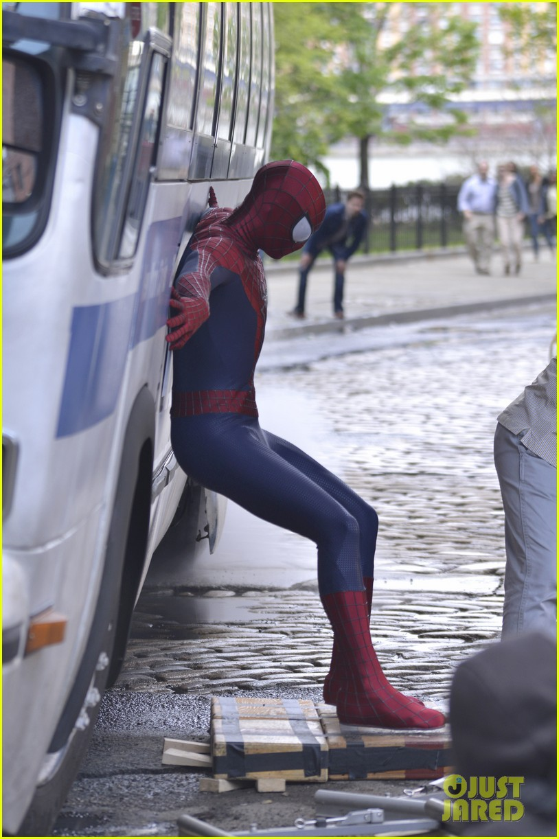 andrew garfield paul giamatti spider man 2 stunt scenes 092869297