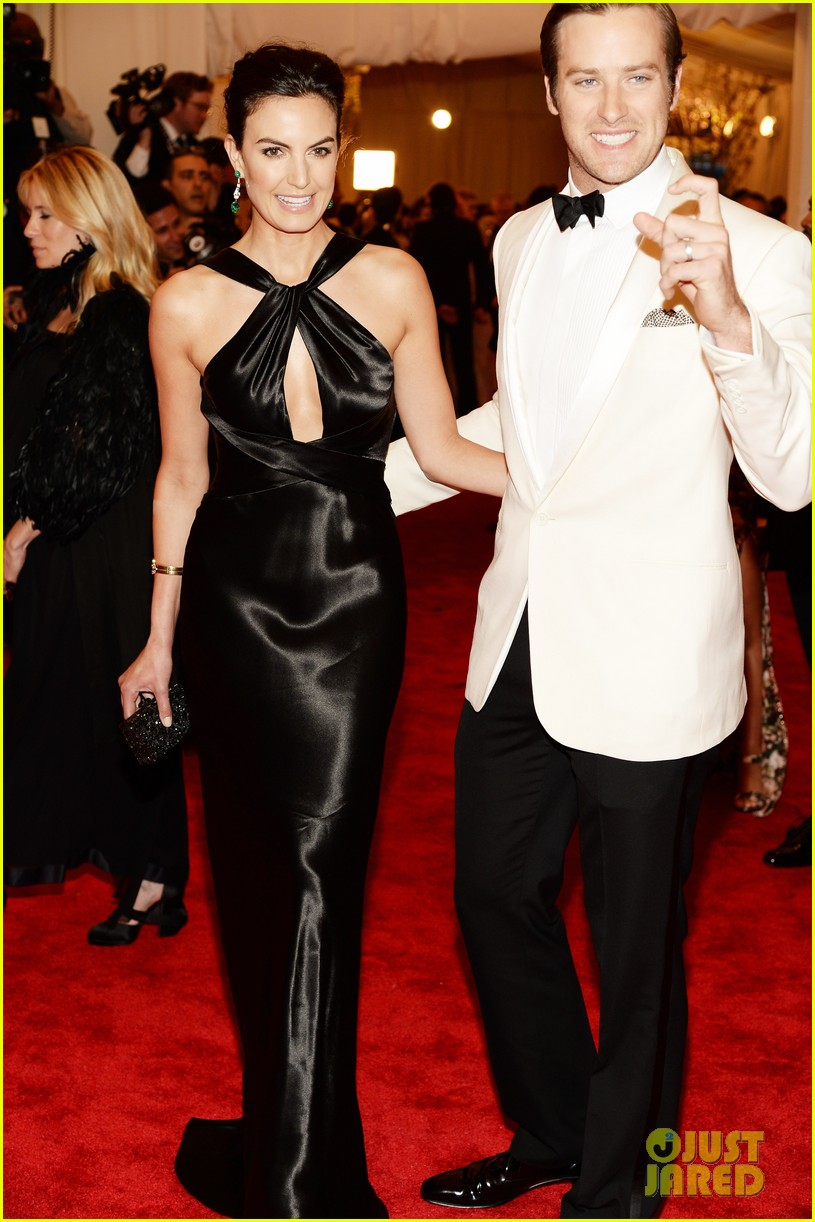 armie hammer met ball 2013 red carpet with elizabeth chambers 012865902