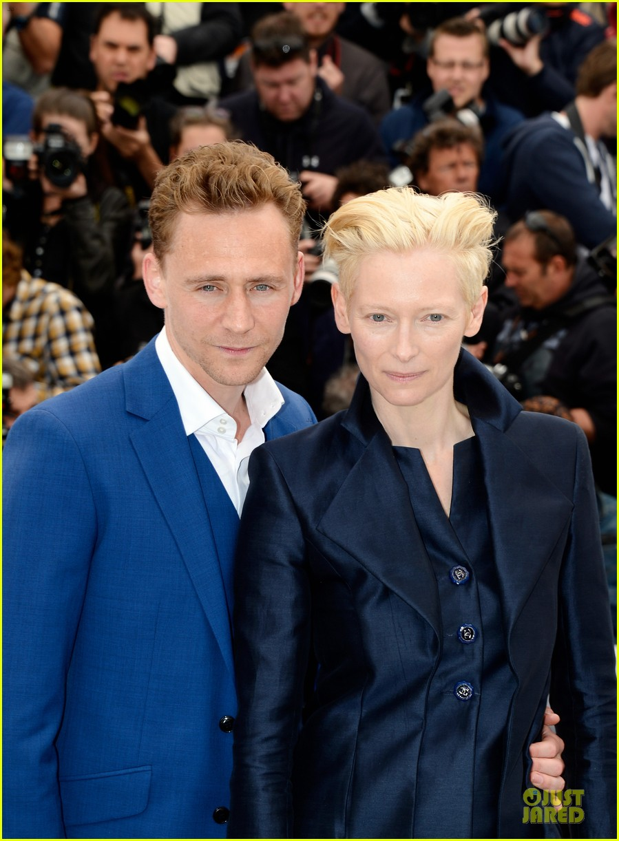 tom hiddleston tilda swinton only lovers left alive cannes photo call 062877852