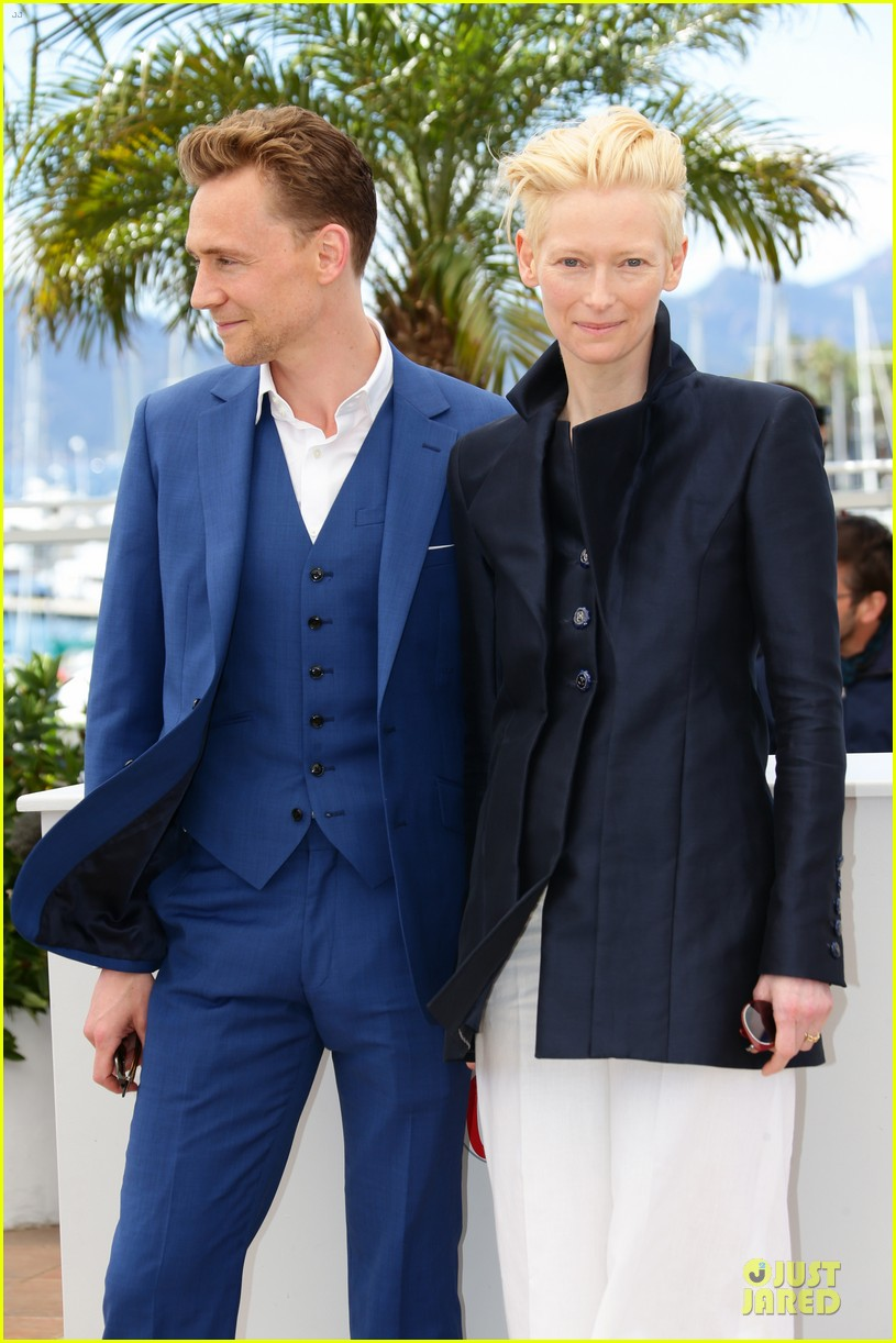 tom hiddleston tilda swinton only lovers left alive cannes photo call 082877854