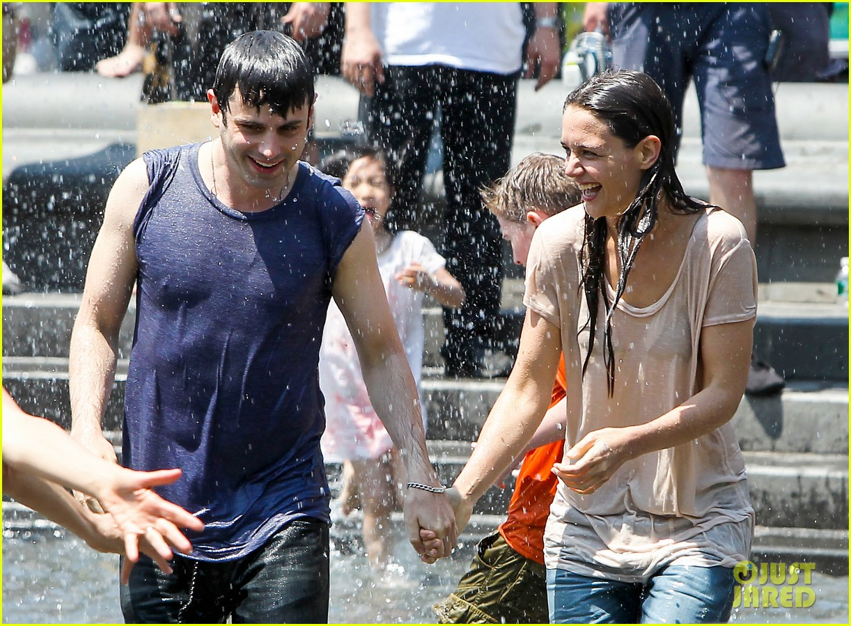 katie holmes soaking wet for mania days 192875556