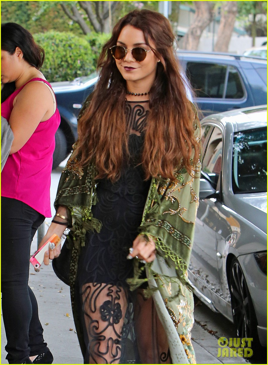 vanessa hudgens hipster chic style at hair salon 172872160