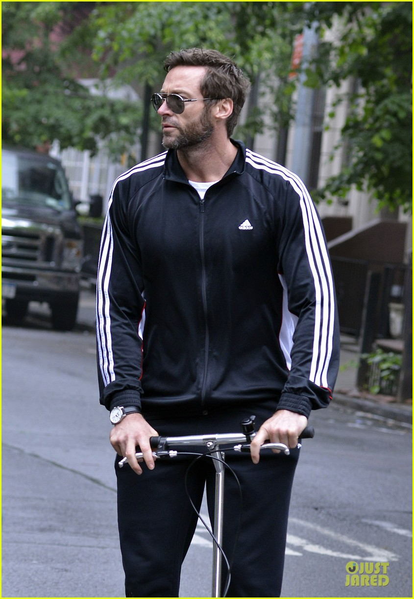 hugh jackman big apple scooter rider 022875809