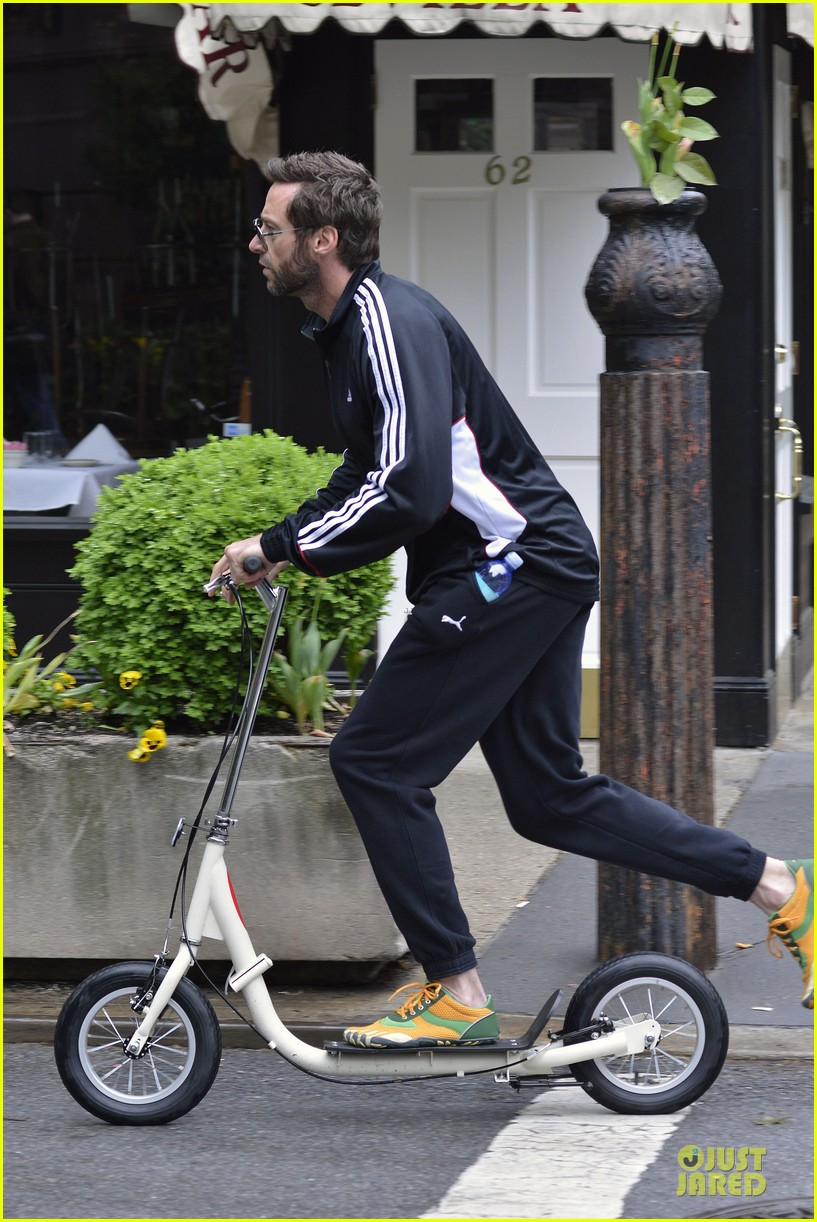 hugh jackman big apple scooter rider 05