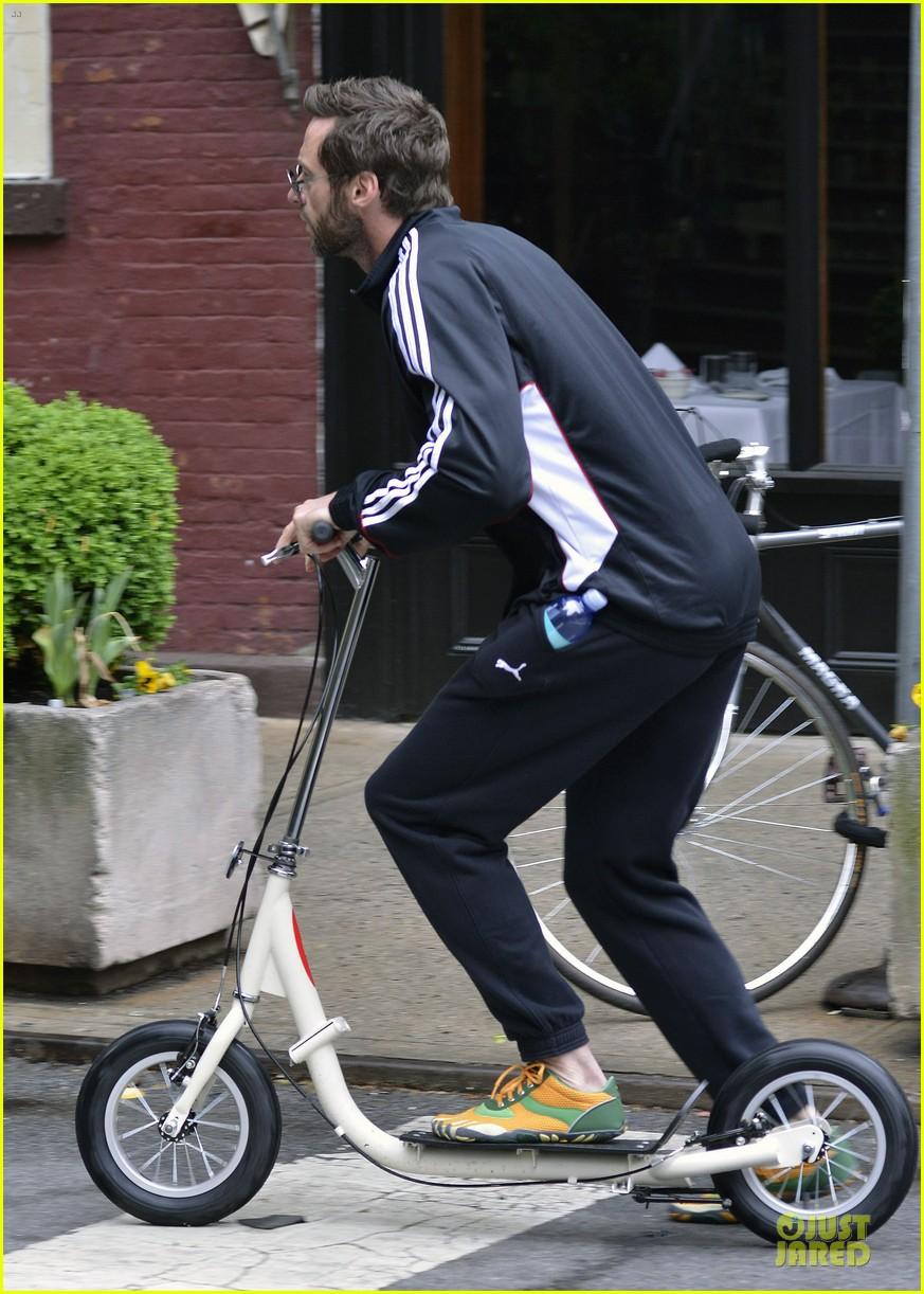 hugh jackman big apple scooter rider 072875814