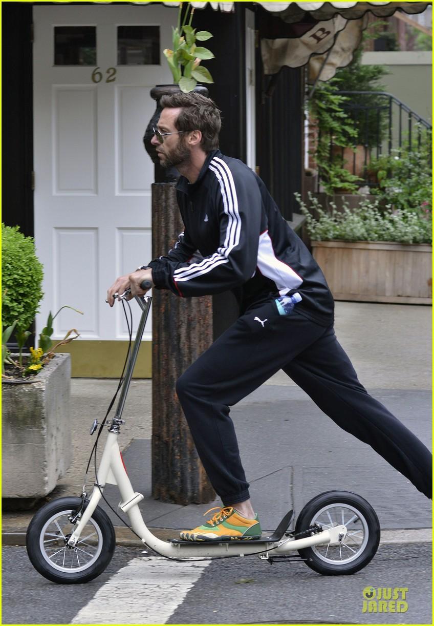 hugh jackman big apple scooter rider 09
