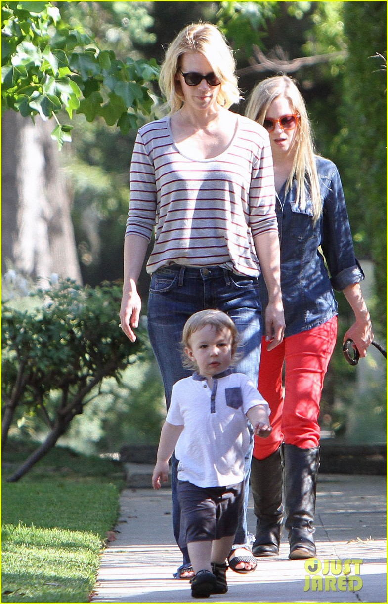 january jones xander walks in front of mommy 132869207