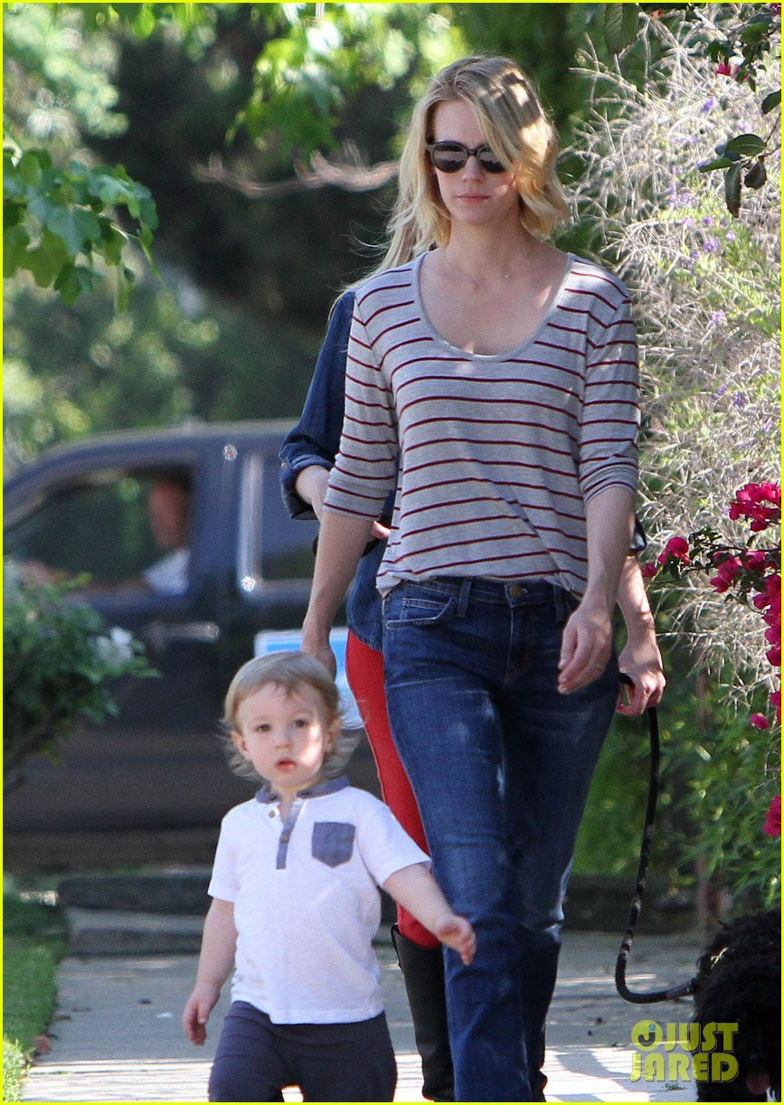 january jones xander walks in front of mommy 172869211