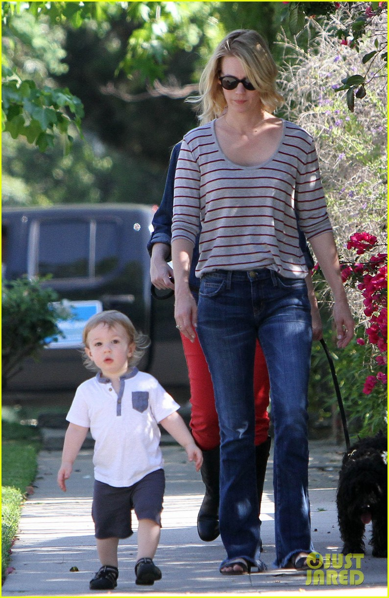 january jones xander walks in front of mommy 182869212