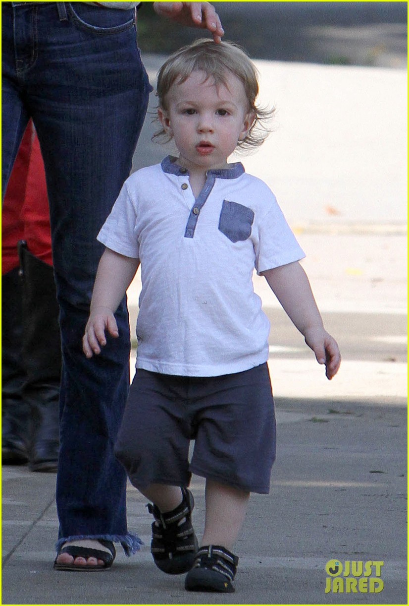 january jones xander walks in front of mommy 212869215