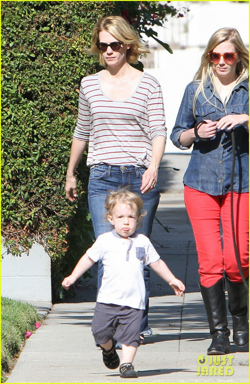 january jones xander walks in front of mommy 242869218
