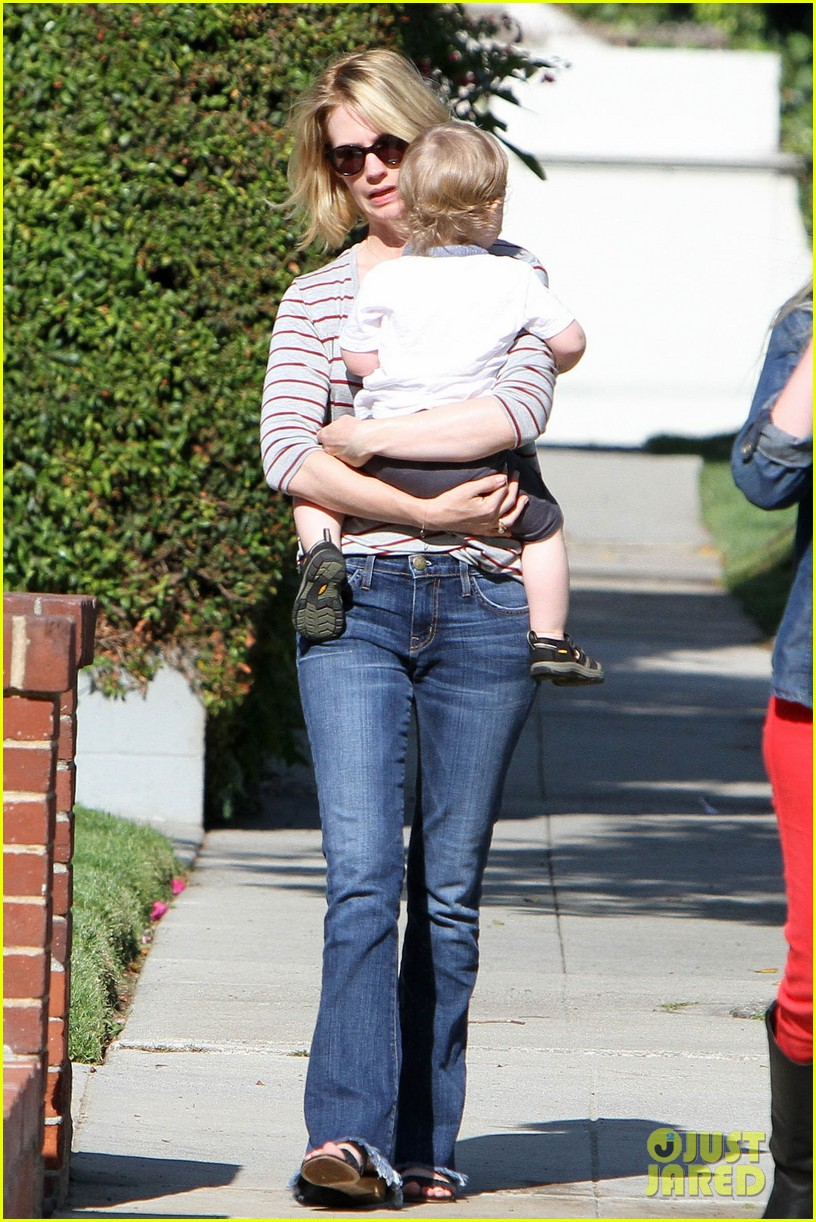 january jones xander walks in front of mommy 272869221