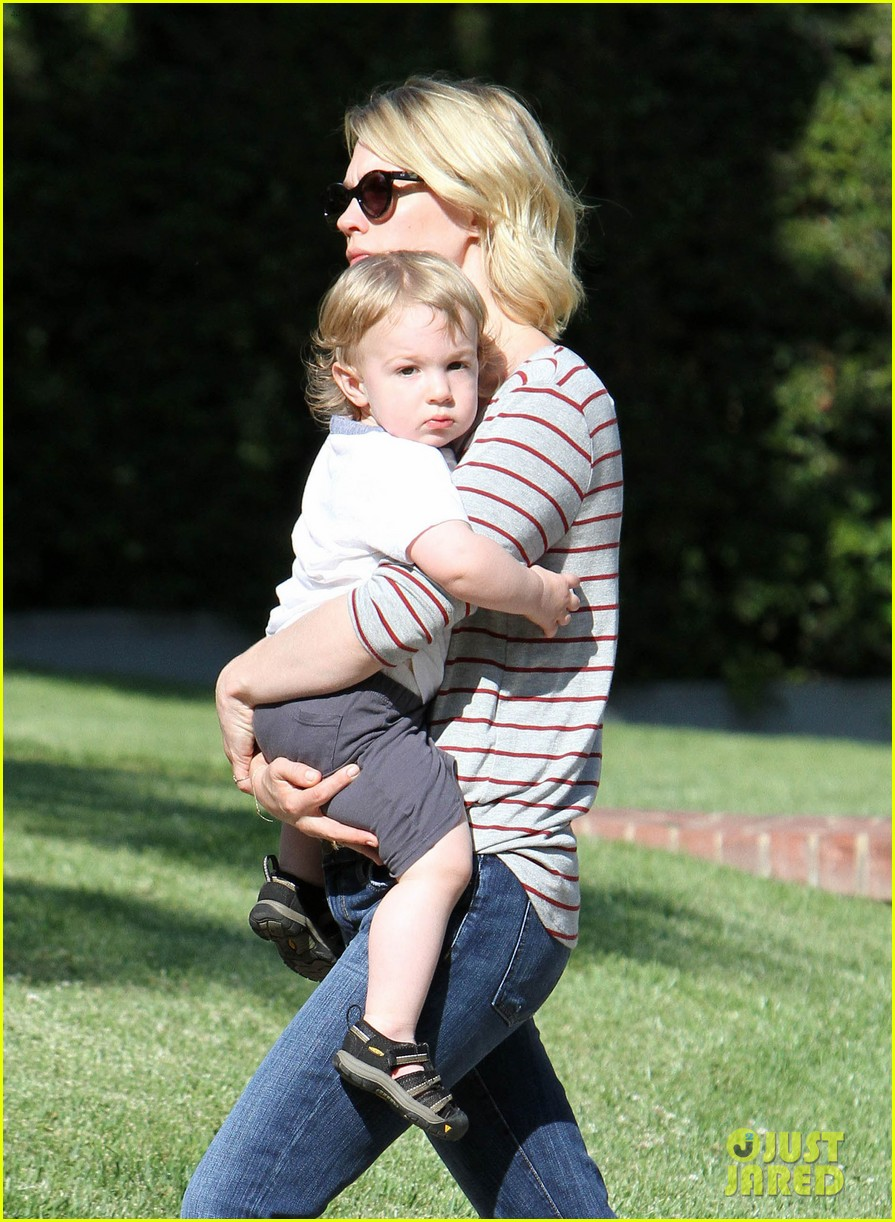 january jones xander walks in front of mommy 292869223