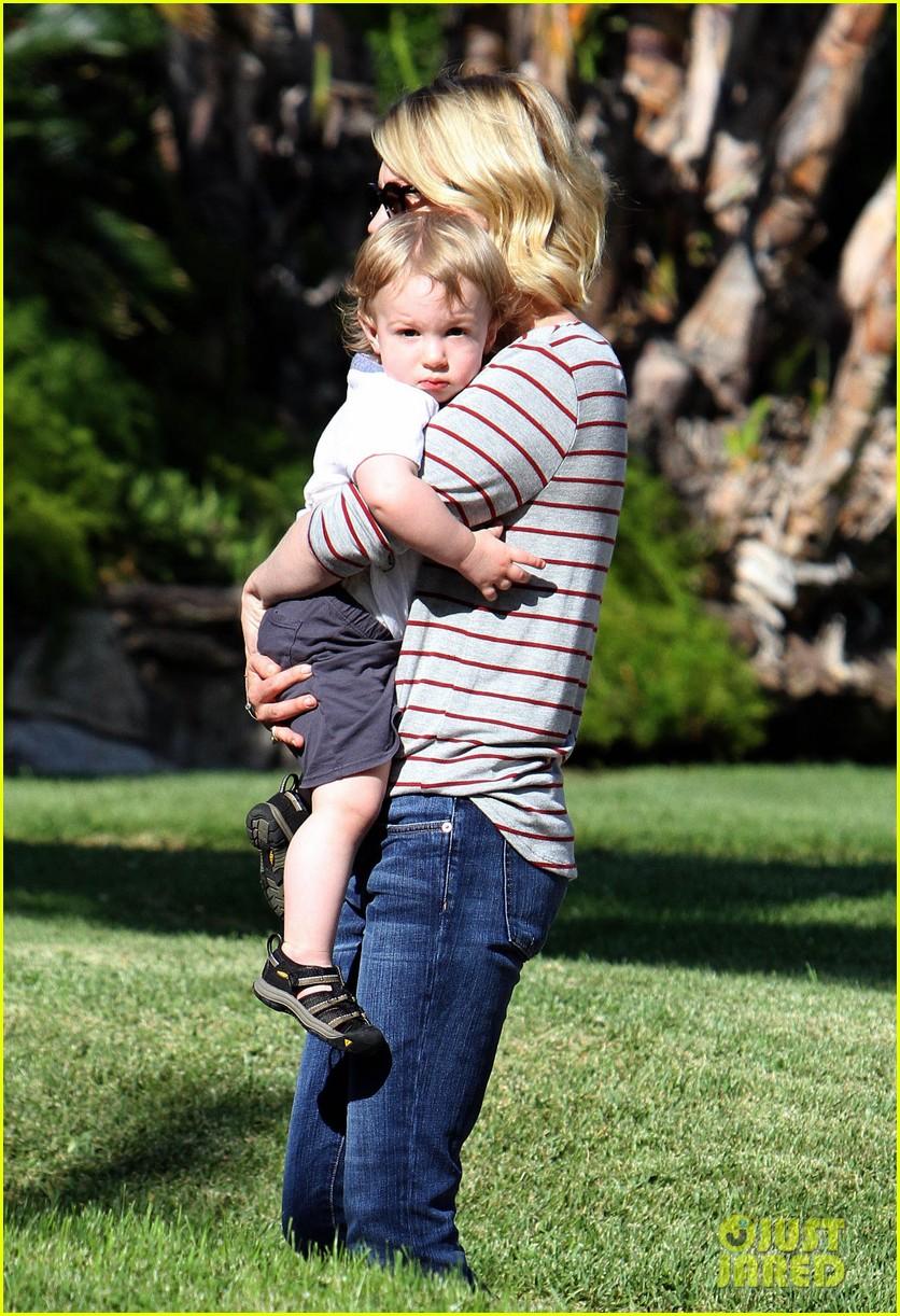january jones xander walks in front of mommy 302869224