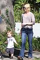 january jones xander walks in front of mommy 20