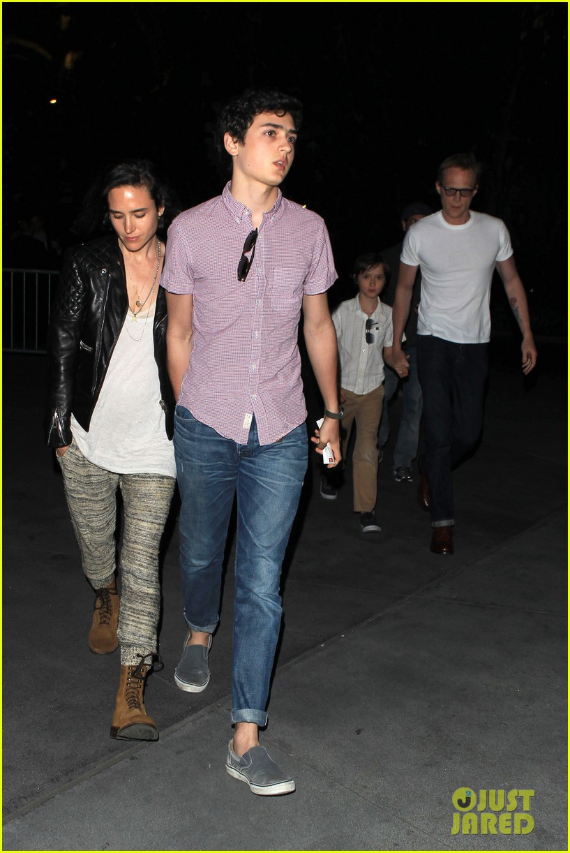 jennifer connelly paul bettany rolling stones concert with the kids 082864060