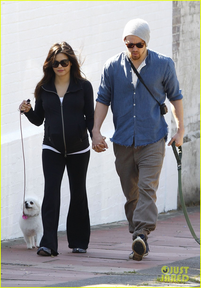 channing tatum jenna dewan take a dog walk following vet visit 022879101