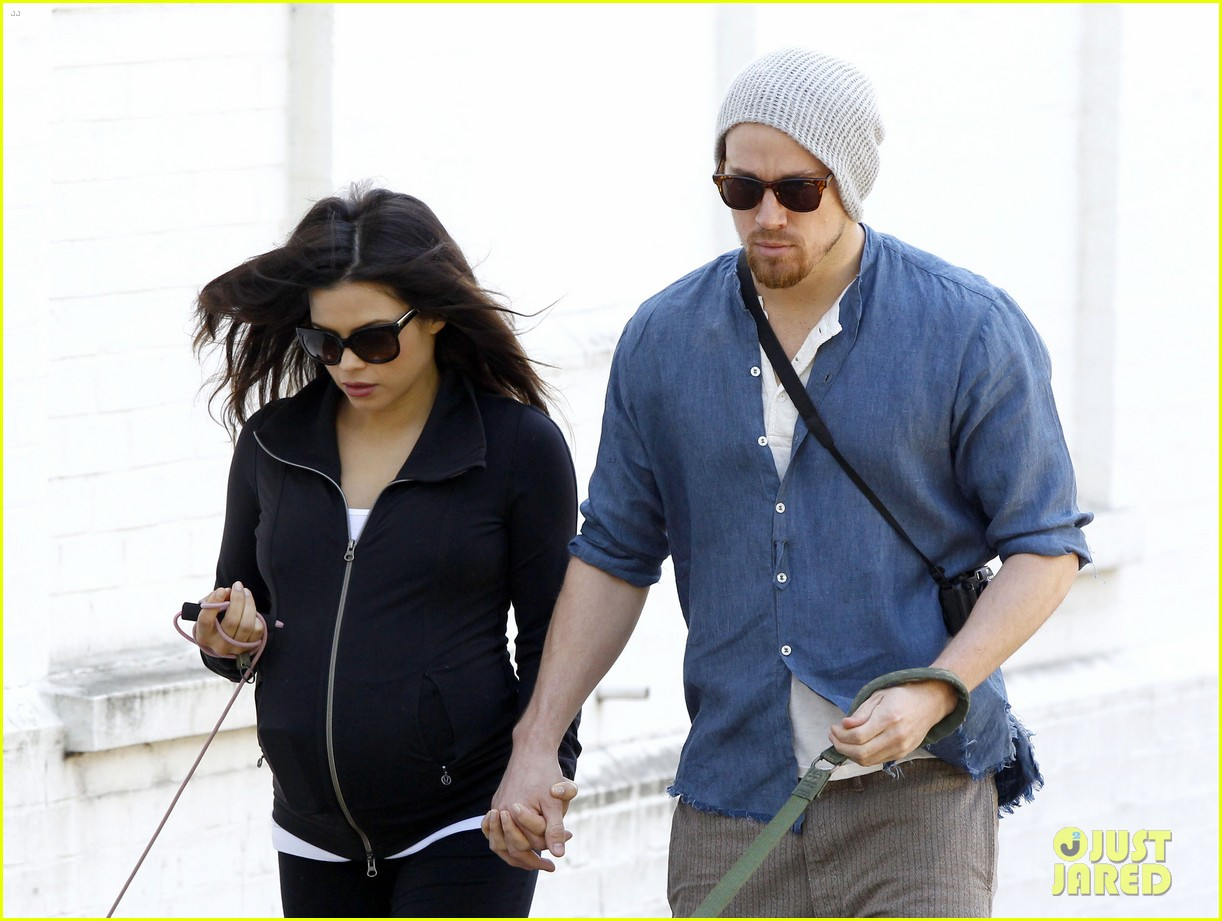channing tatum jenna dewan take a dog walk following vet visit 032879102