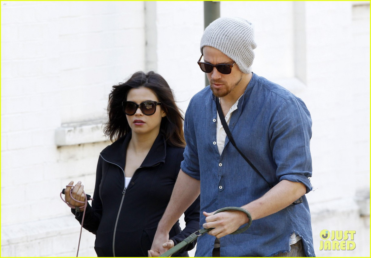 channing tatum jenna dewan take a dog walk following vet visit 202879119