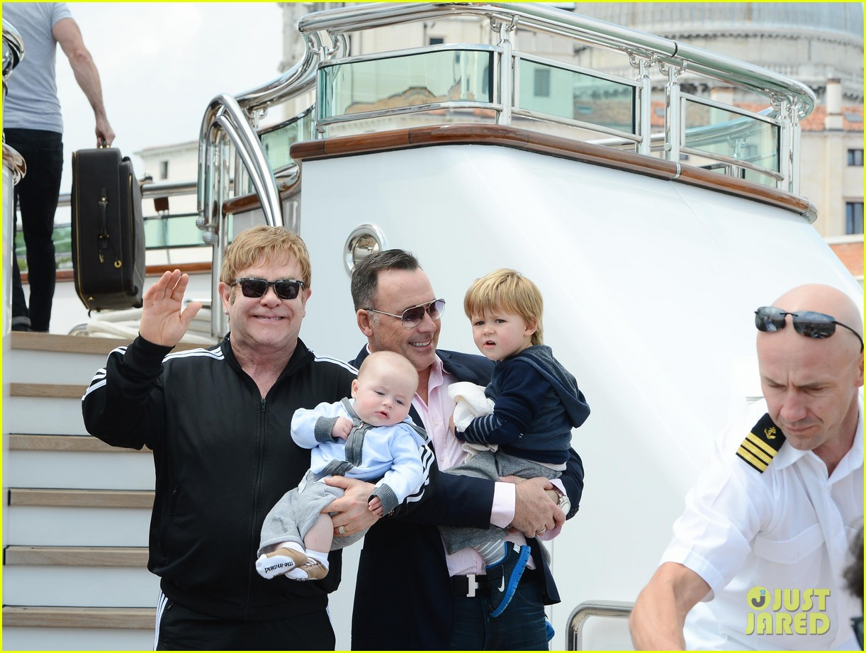 elton john david furniss family trip with zachary elijah 112879972