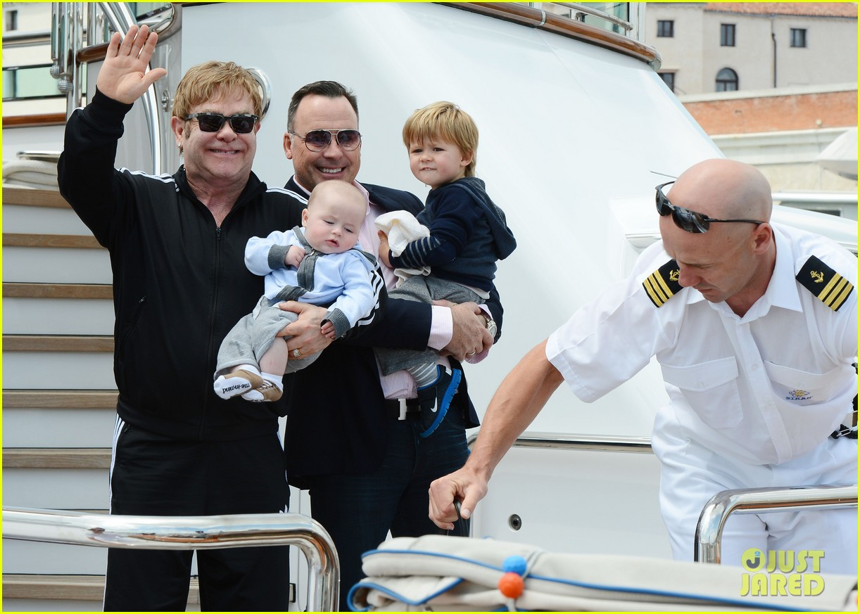 elton john david furniss family trip with zachary elijah 142879975
