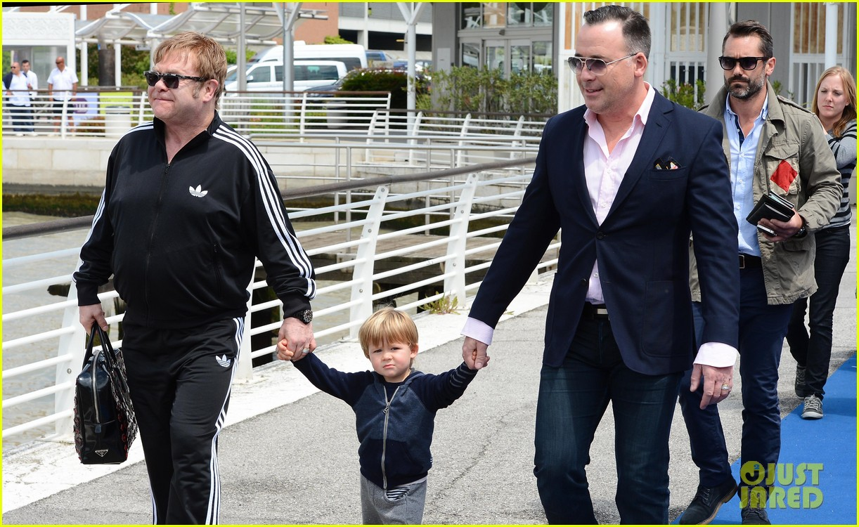 elton john david furniss family trip with zachary elijah 192879980