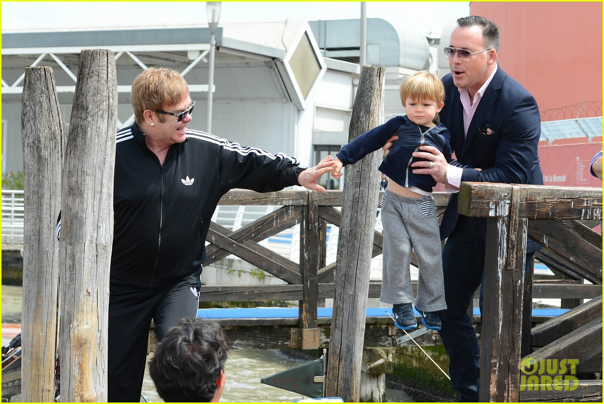 elton john david furniss family trip with zachary elijah 242879985