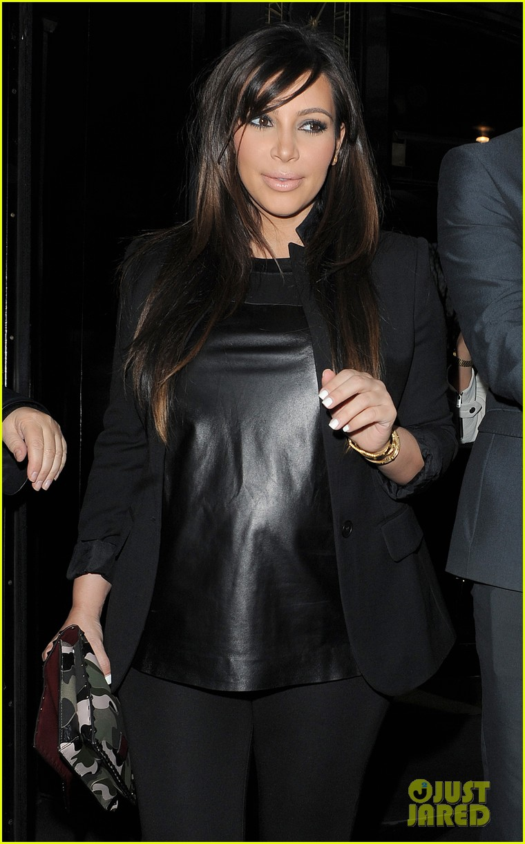 kim kardashian pregnant leather lady at beyonce concert 172861938