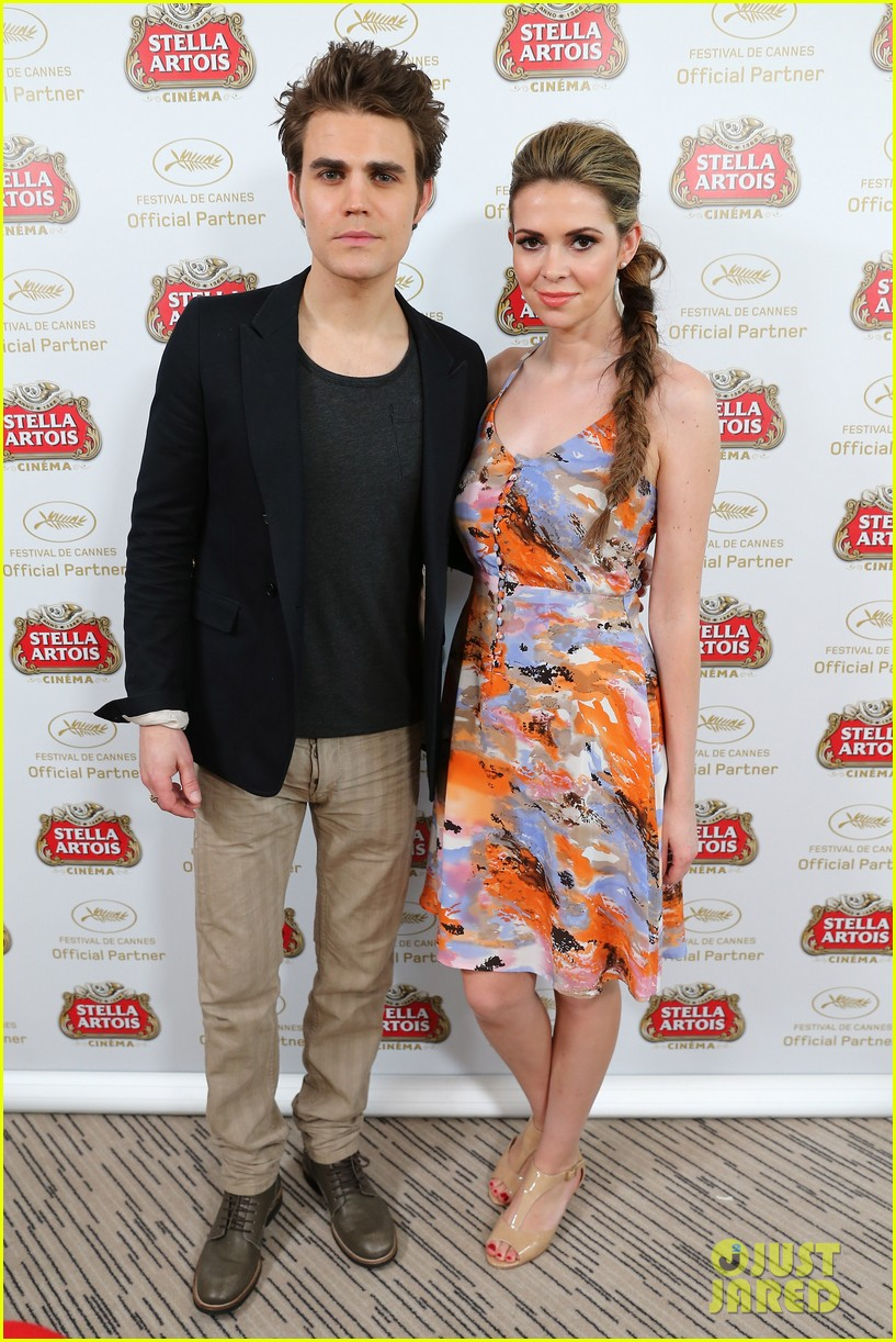 stacy keibler paul wesley stella artois suite at cannes 142876201