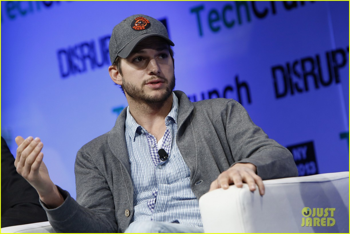 ashton kutcher techcrunch disrupt ny 132861910