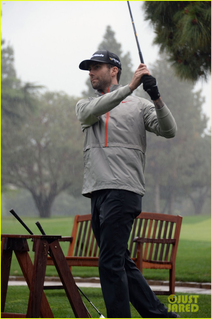 adam levine george lopez celebrity golf classic 2013 112865009