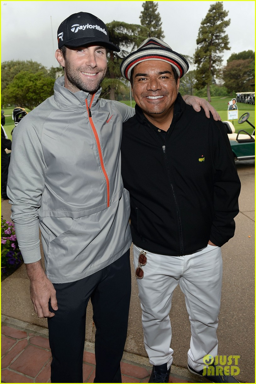 adam levine george lopez celebrity golf classic 2013 122865010
