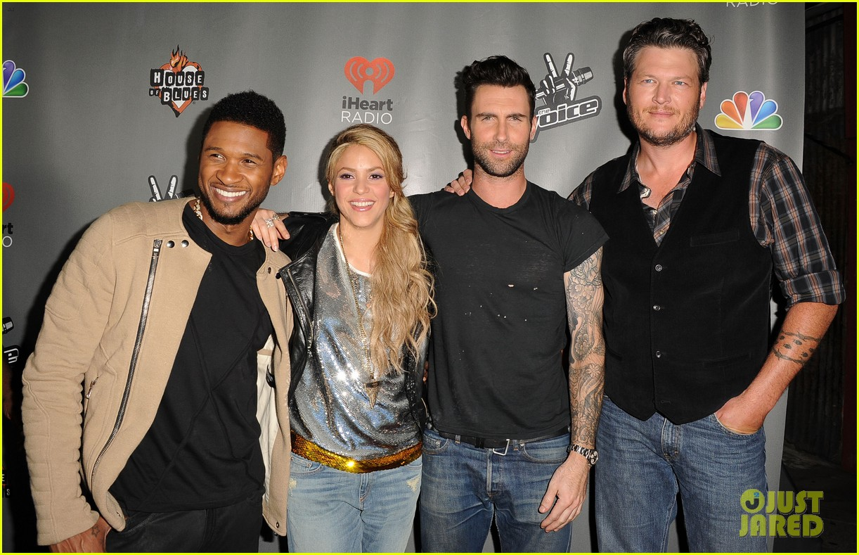 adam levine shakira the voice season 4 finalists party 14