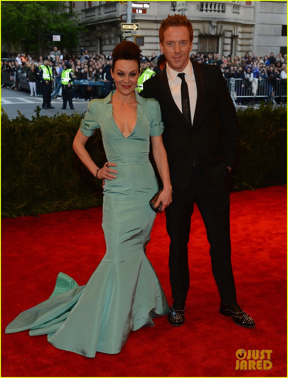 damian lewis morgan saylor met ball 2013 red carpet 012865796